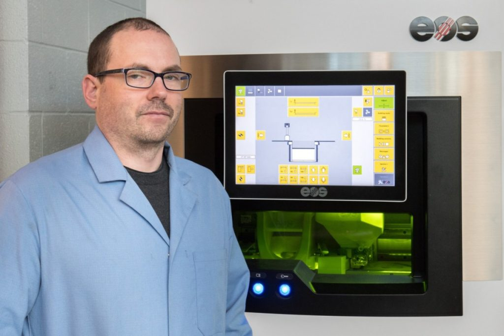 Dr. Brandon McWilliams, the lead researcher for 3D printing metals at the ARL. Photo via ARL.