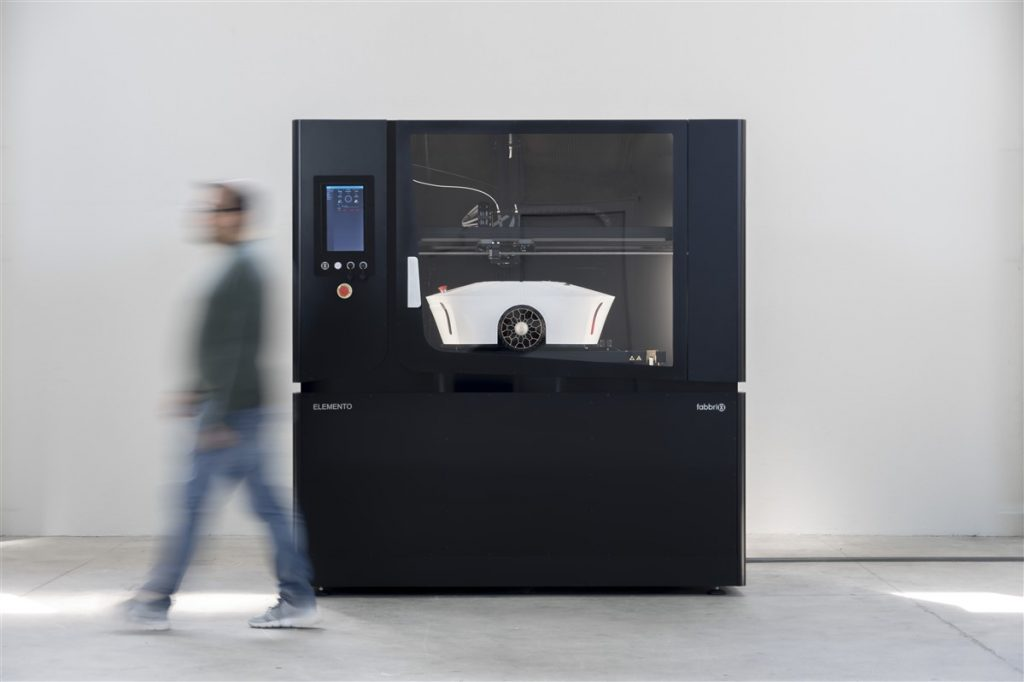 The ELEMENTO v2.1 3D printer. Photo via Fabbrix.