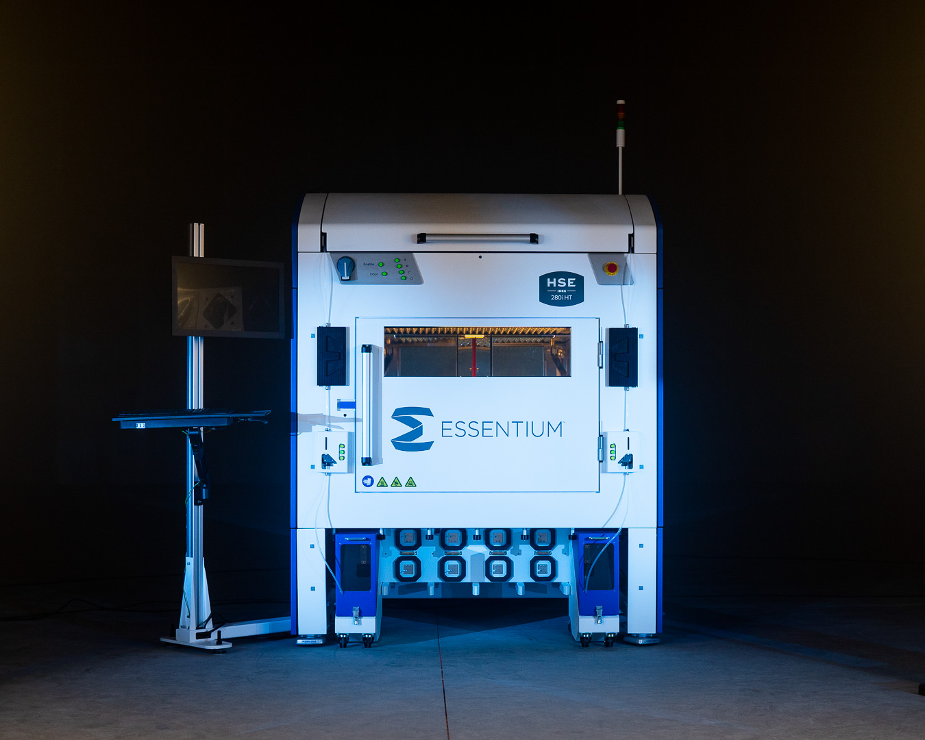 The Essentium HSE 280i HT IDEX 3D printer. Photo via Essentium.