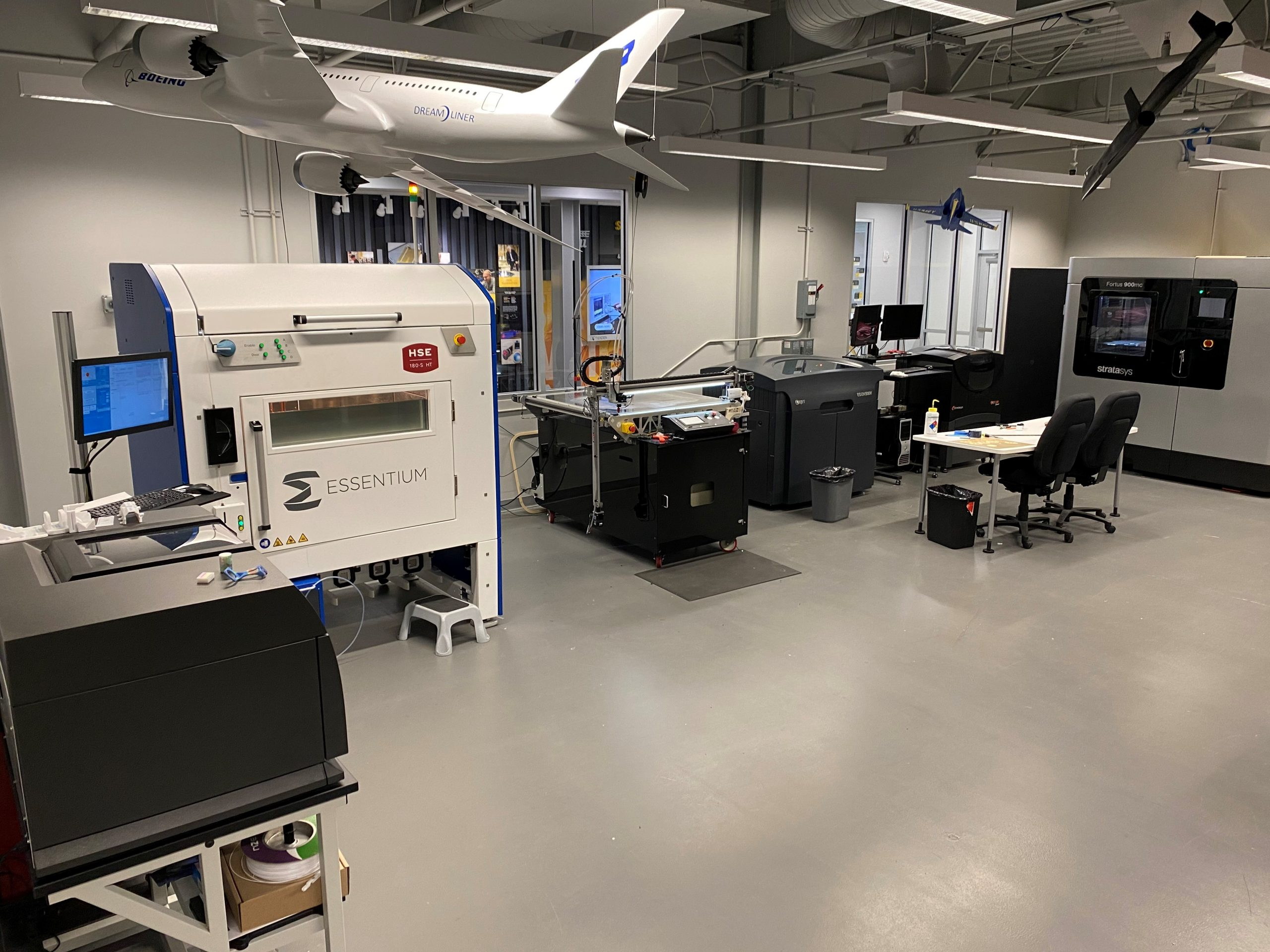 The Essentium HSE platform installed NIAR's facility. Photo via Essentium.