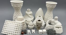 Sinterable ceramic parts 3D printed using Tethon 3D resins. Photo via Tethon 3D.