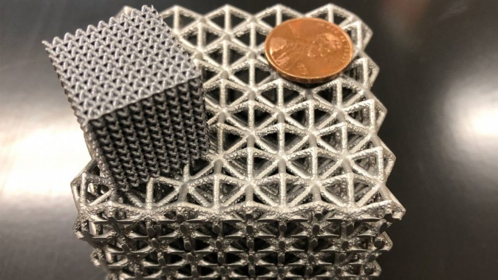 Magnesium lattice structures 3D printed by UCF and ARL researchers. Photo via UCF.