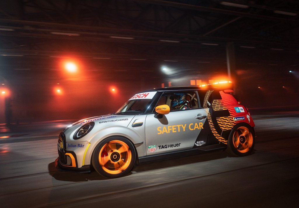 BMW's new MINI Pacesetter safety car for the Formula E World Championship.