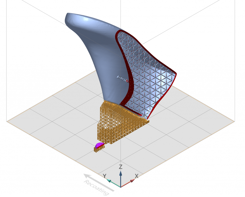 The shoe last's 3D data being prepared in VoxelDance Additive. Image via DREIGEIST