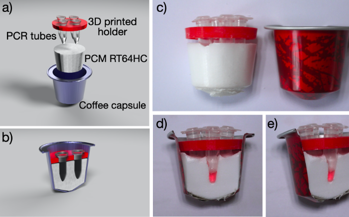 The scientists' CoroNaspresso COVID-19 test in action.