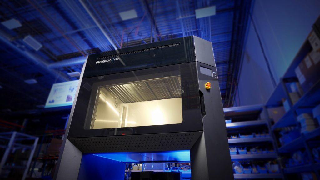 Stratasys F770 3D printer installed at Sub-Zero. Photo via Stratasys.