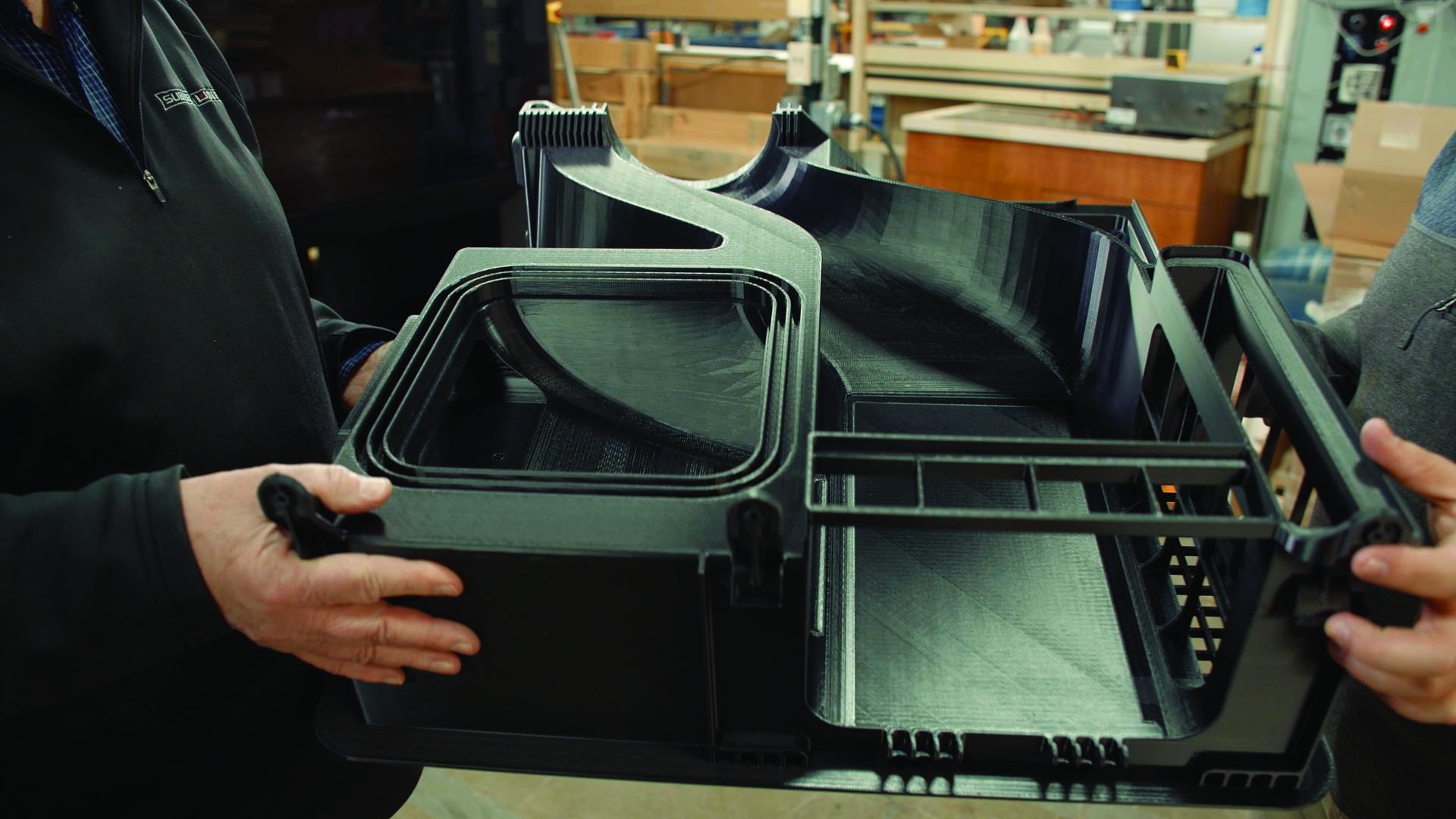 3D printed Sub-Zero appliance using the Stratasys F770. Photo via Stratasys.