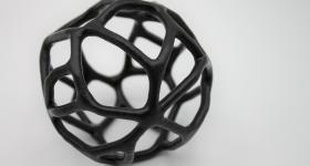 TPU 3D printed part after PostPro Chemical Vapor Smoothing. Photo via AMT.