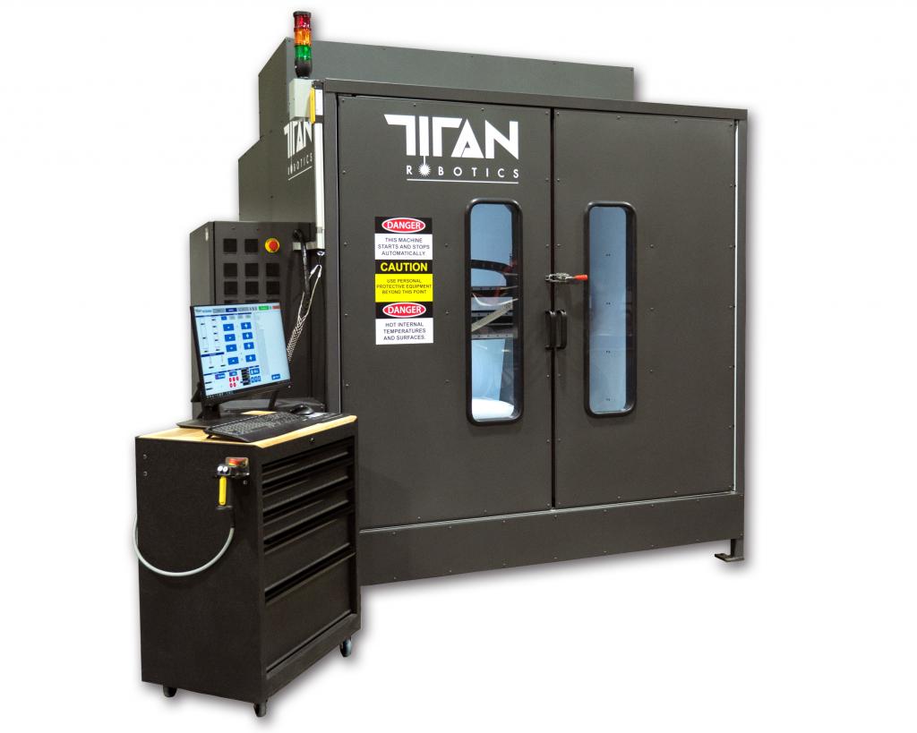 The Atlas-HS hybrid additive manufacturing system. Photo via Titan Robotics.