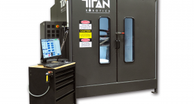 The Atlas-HS hybrid additive manufacturing system. Photo via Titan Robotics.