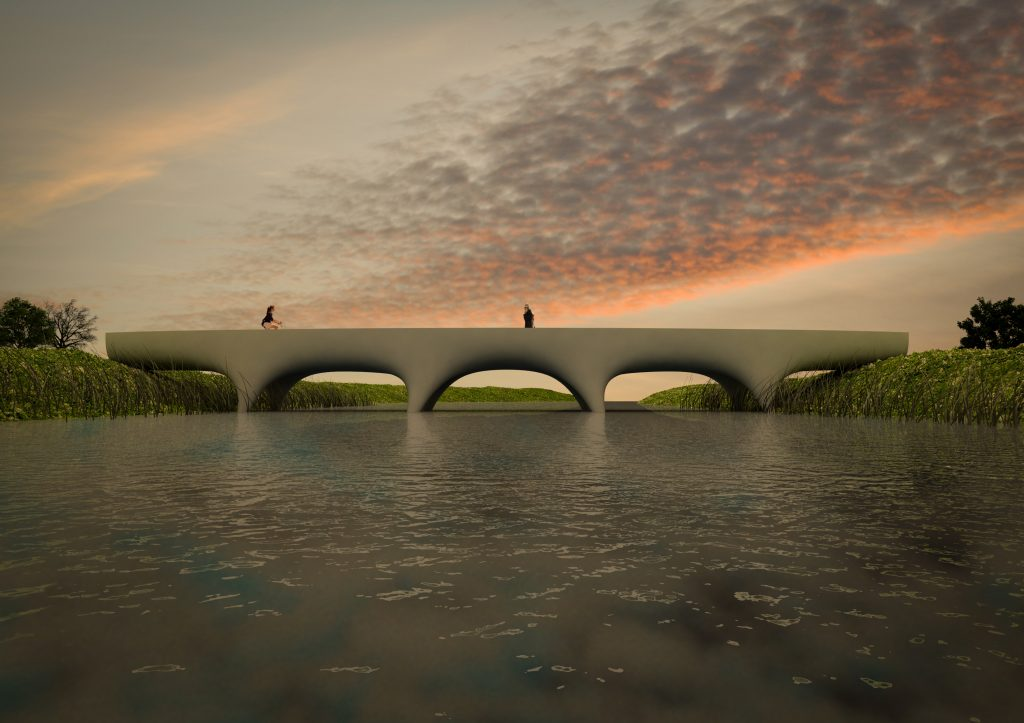 The final design for the bridge. Image via The Bridge Project.