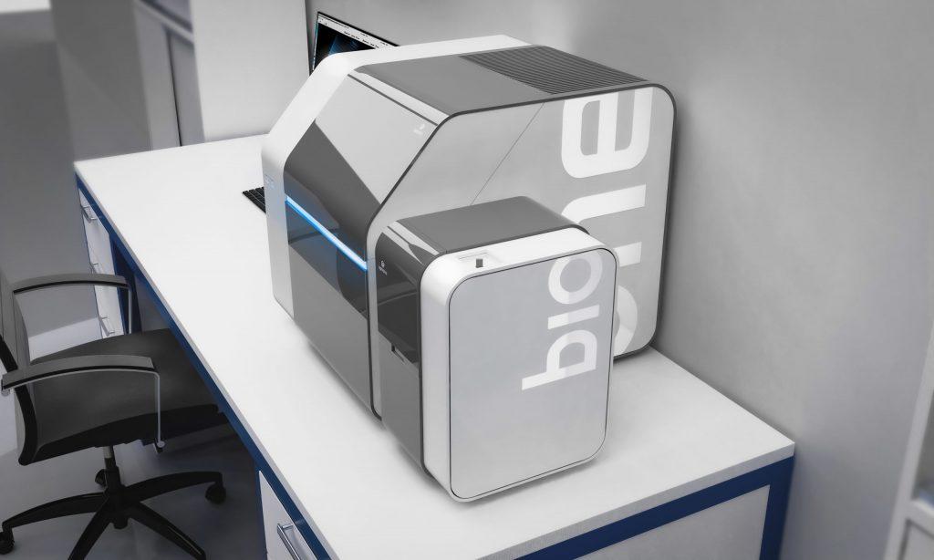 The UpNano NanoOne Bio with its incubation chamber. Photo via UpNano.
