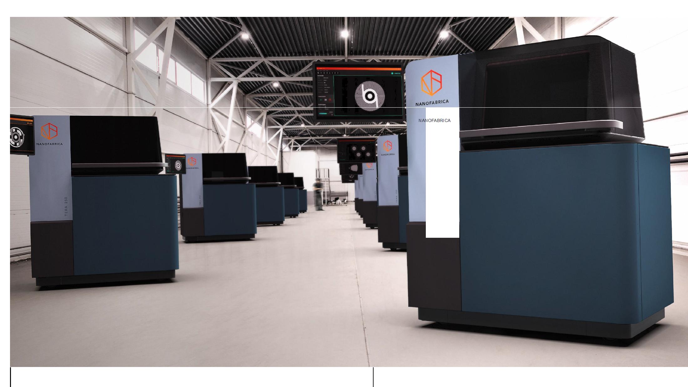 A fleet of Nanofabrica Tera 250 3D printers. Photo via Idan Gill/Nanofabrica.