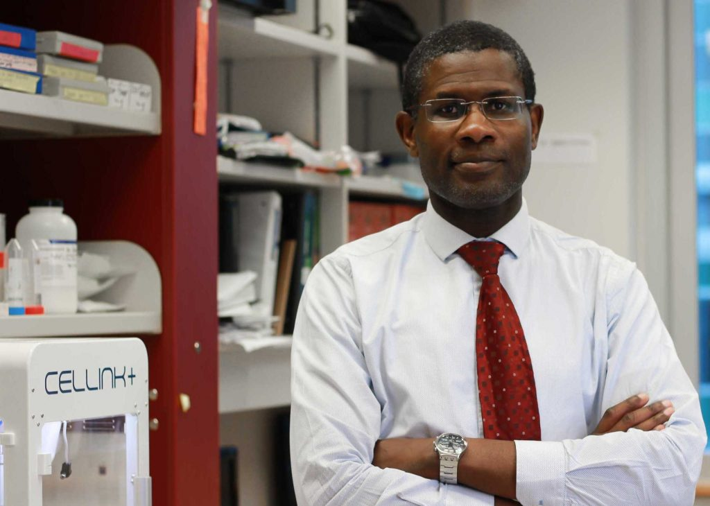 Adetola Adesida, who co-led the U of A research team that developed the bioprinting technique.
