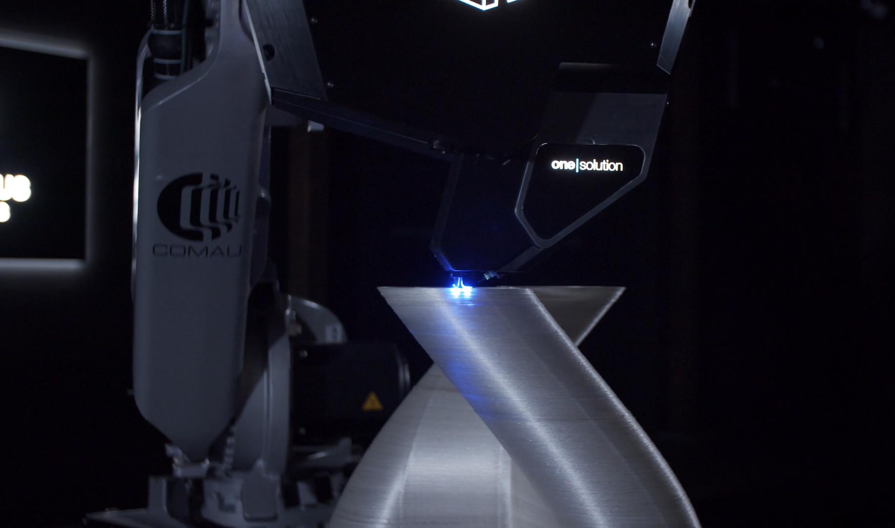 3D printing a composite part with CF3D. Photo via Continuous Composites.