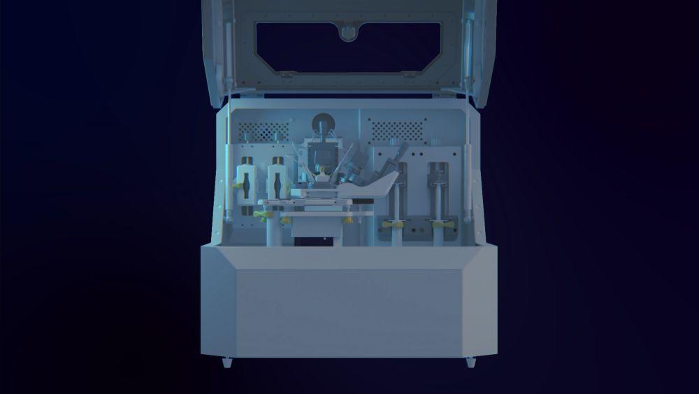 Render prototypowej drukarki DRIP 3D.  Zdjęcie za pośrednictwem Zdalny Serwis.