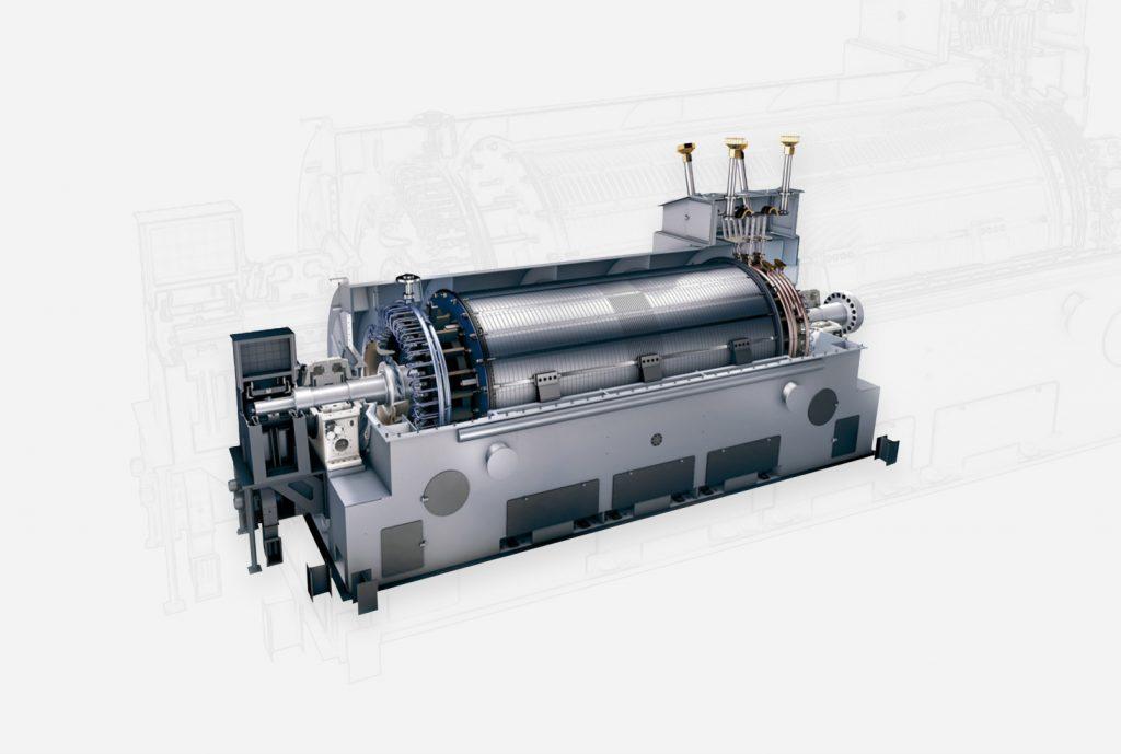 A Siemens Energy generator. Photo via Siemens Energy.