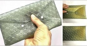 A purse 3D printed using silk leather. Photo via Tufts University.