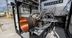 Launcher's AMCM-3D printed combustion chamber.