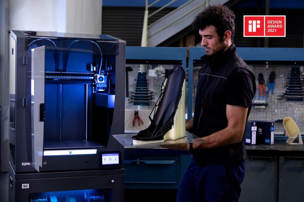 BCN3D won an iF Product Design Award for its large-format Epsilon 3D printer. Photo via BCN3D.