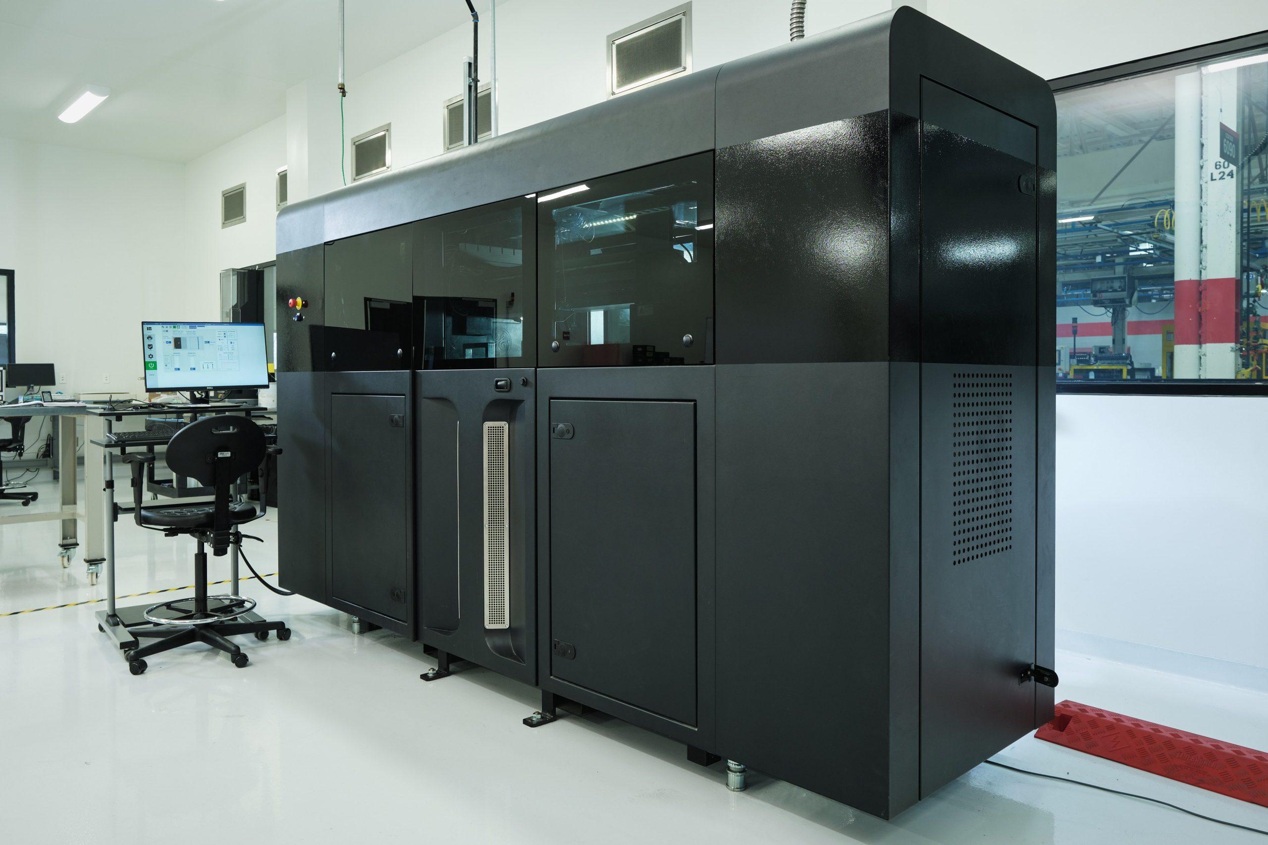 The H2 Binder Jet 3D printer from GE Additive installed at Cummins' facility. Photo via Cummins Inc.