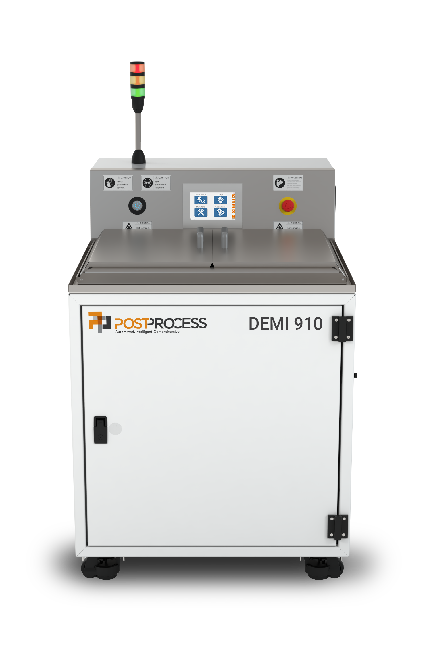 PostProcess DEMI 910 automated resin removal system. Photo via PostProcess Technologies.
