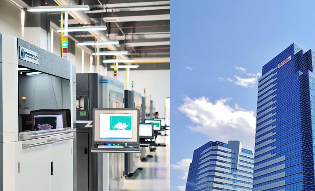 A Farsoon 3D printer alongside Japan 3D Printer Co's HQ.