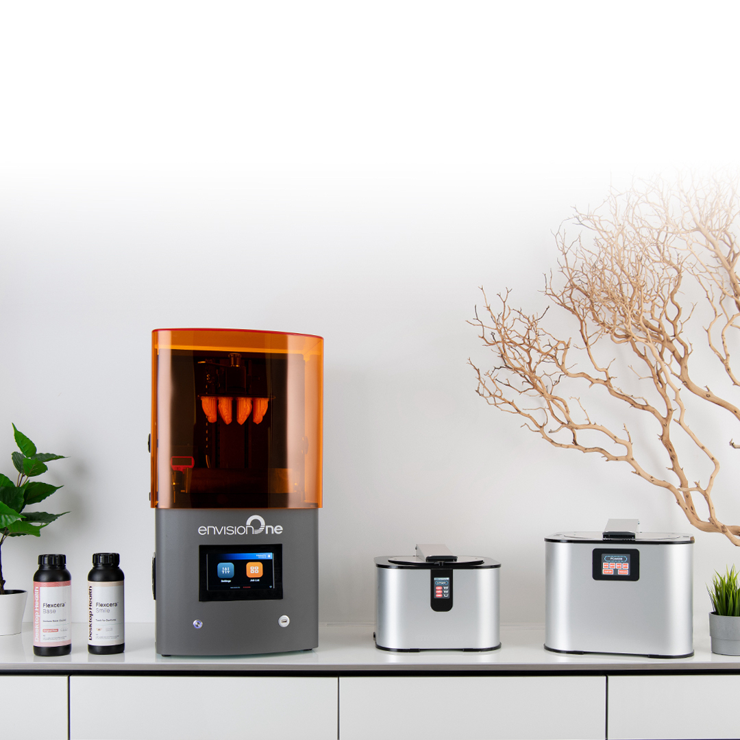 The Flexcera resins have been formulated exclusively for EnvisionTEC 3D printers. Photo via Desktop Metal.