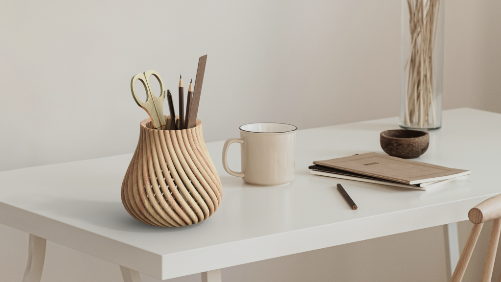 Wood products 3D printed by Forust. Photo via Forust.