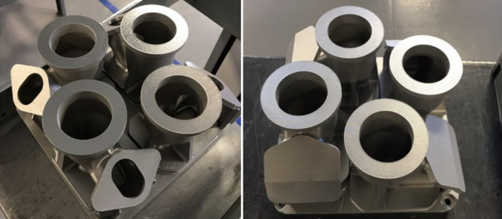 GE achieved cost savings of 35% by 3D printing the parts. Photos via GE.