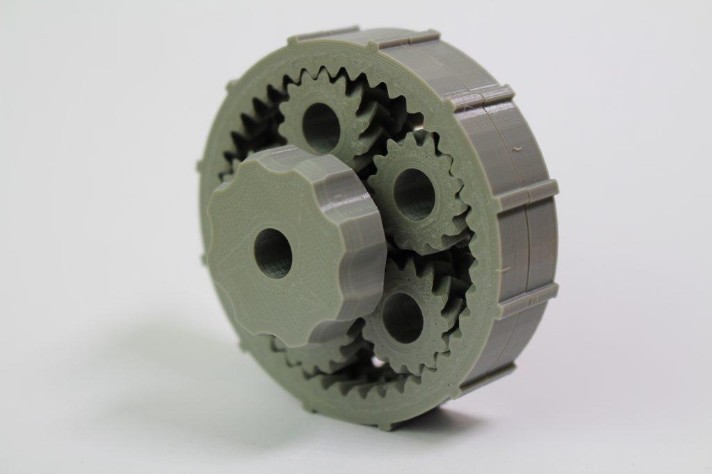 Planetary gear system. Photo by 3D Printing Industry.