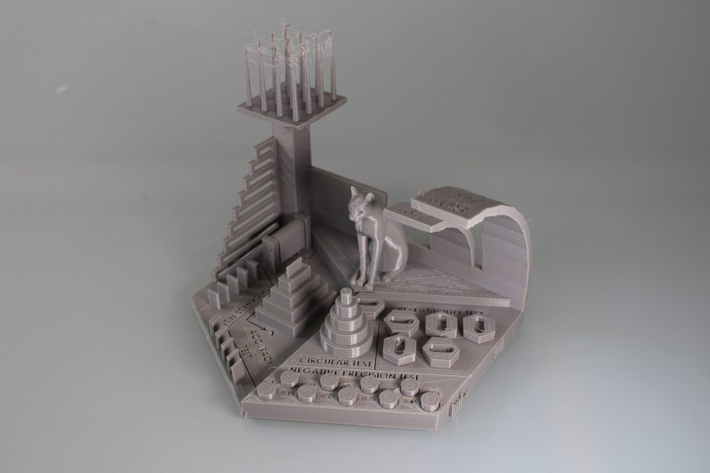 The 3DPI benchmarking model in PETG. Photo by 3D Printing Industry.