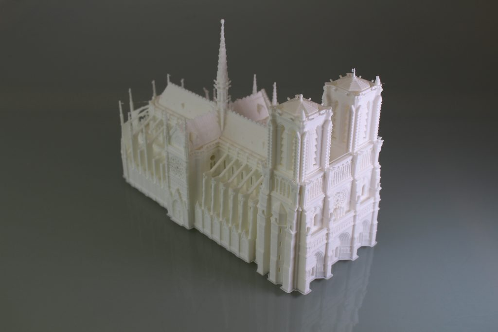 Notre-Dame cathedral print test. Photo by 3D Printing Industry.