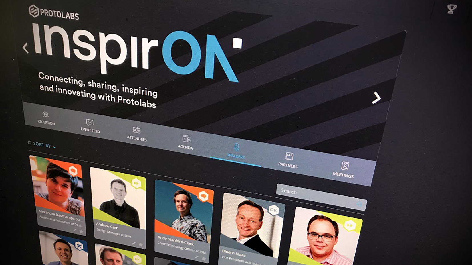 All of the speakers taking part in the InspirON series can be found on the Protolabs website. Photo via Protolabs.