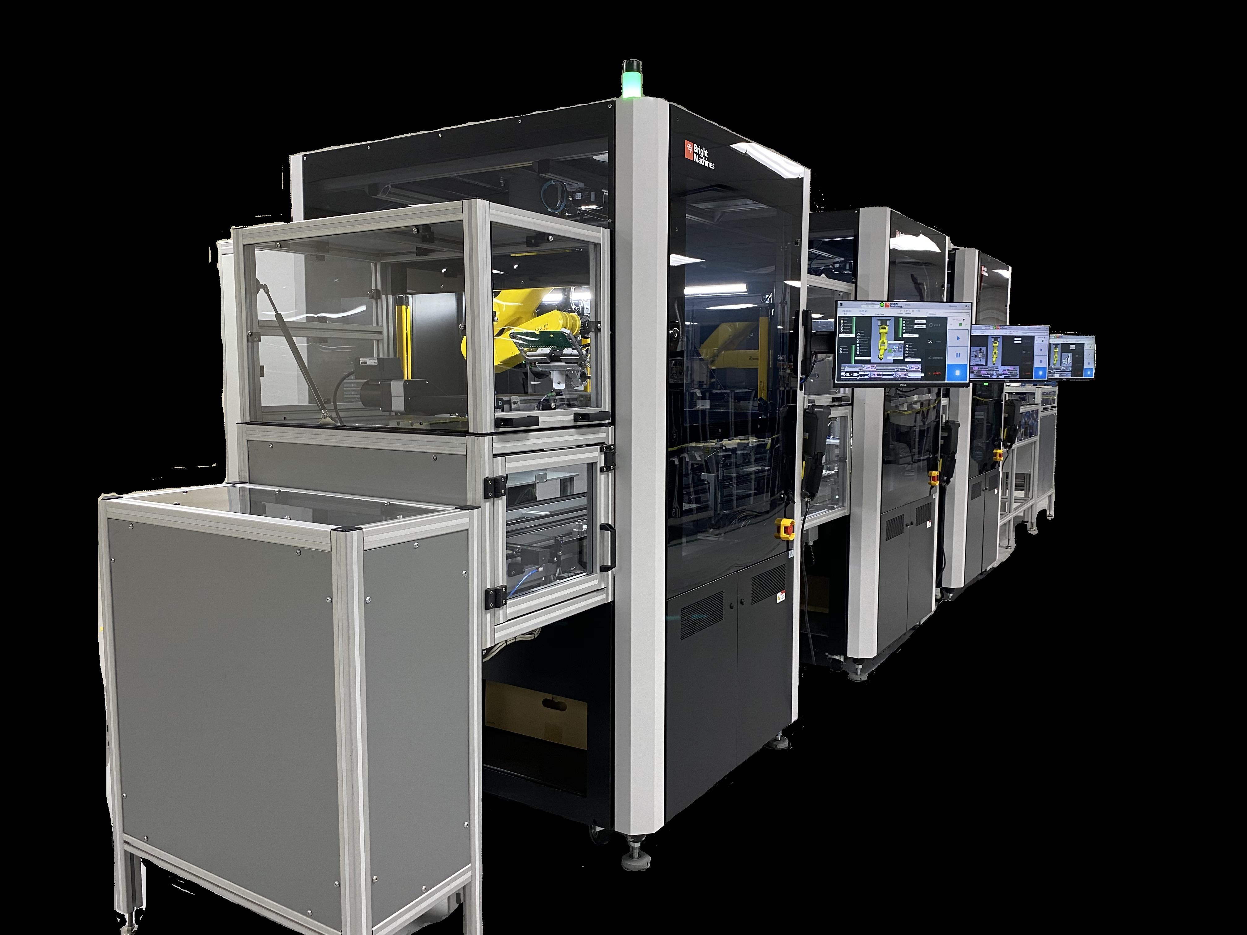 Bright Machines microfactory testing station. Photo via Bright Machines.