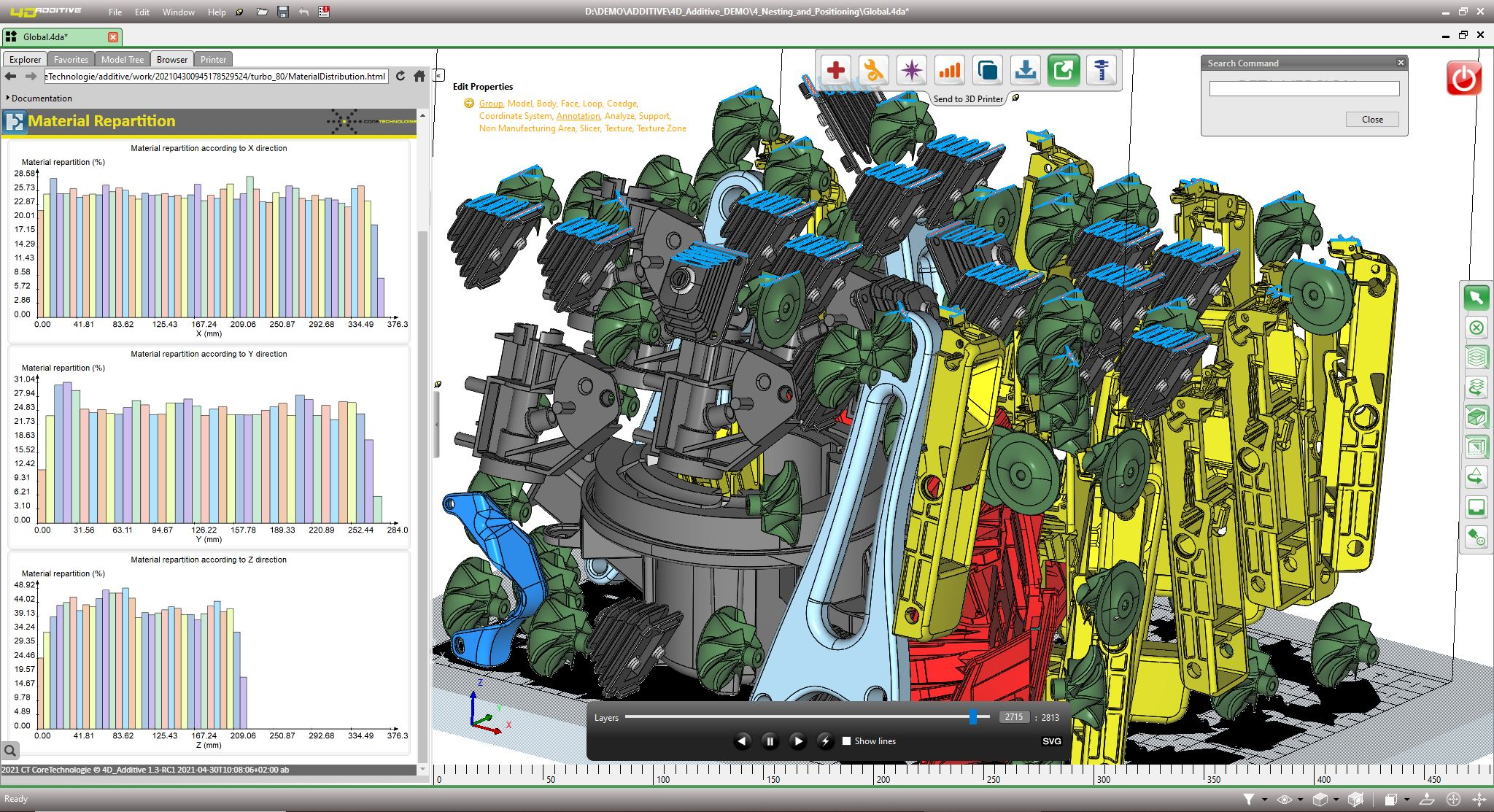 Version 1.3 of 4D_Additive software optimizes small batch production of 3D printed parts Photo via CoreTechnologie GmbH.
