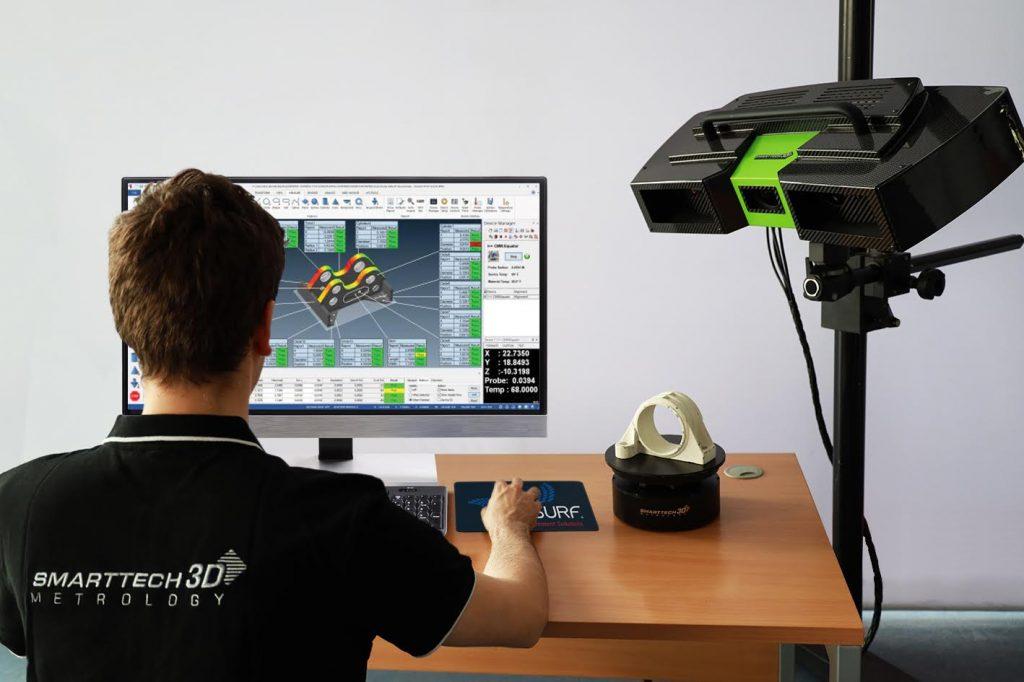 Verisurf software being used with a SMARTTECH 3D scanner. Photo via SMARTTECH3D.