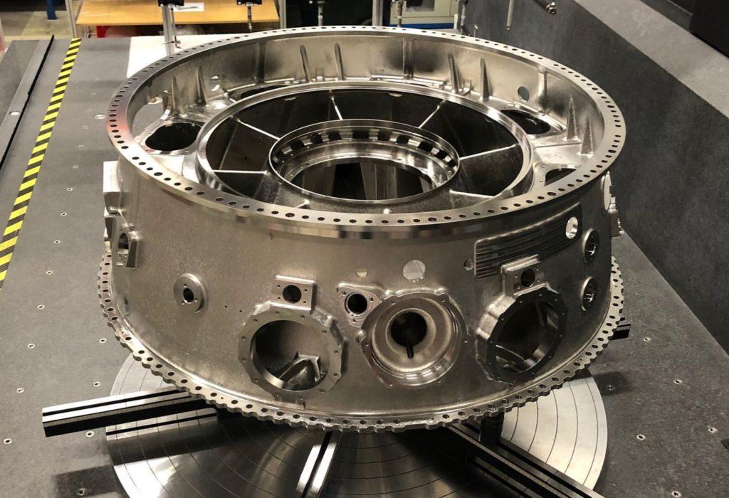 The UltraFan engine's ICC. Photo via GKN.
