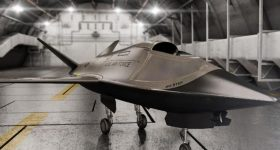 The XQ-58A Valkyrie drone is an example of a 'low-cost' attritable aircraft. Photo via Kratos Defense.