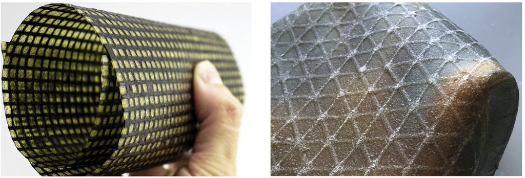 The material also allows for a range of flexibilities and opacities. Photos via Tufts University.