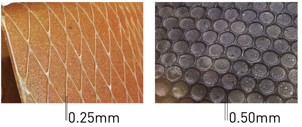 The material can be 3D printed with feature sizes down to 0.25mm. Photos via Tufts University.