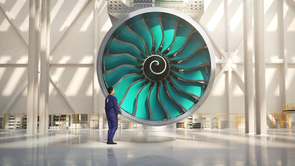 The upcoming Rolls-Royce UltraFan engine. Image via Rolls-Royce.