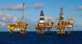 Total's Elgin-Franklin oil rig in the North Sea. Photo via Total.