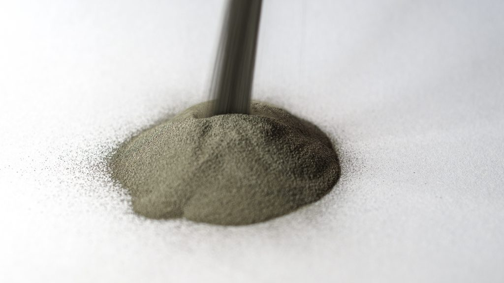 Rio Tinto's water atomized steel powder. Photo via Rio Tinto.