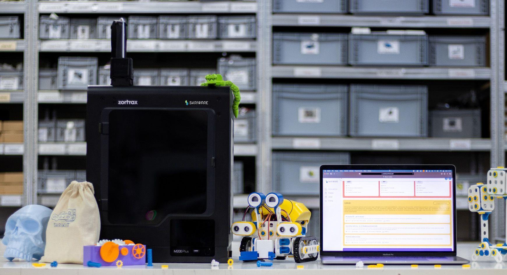 A Zortrax M200 Plus 3D printer in a SkriLab. Photo via Zortrax.