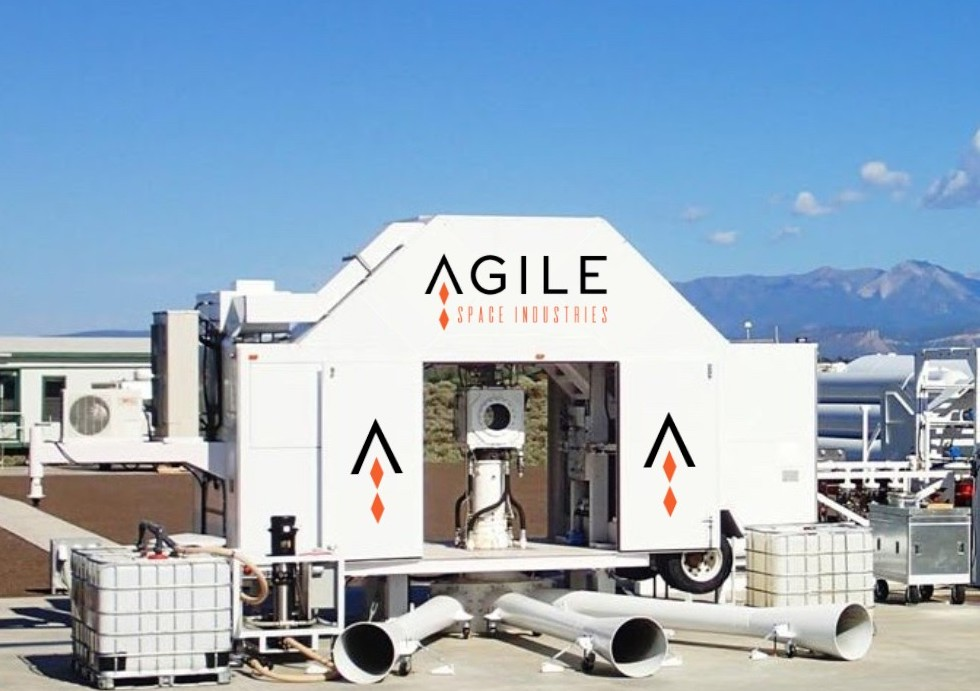 An Agile Space Industries launch site facility.