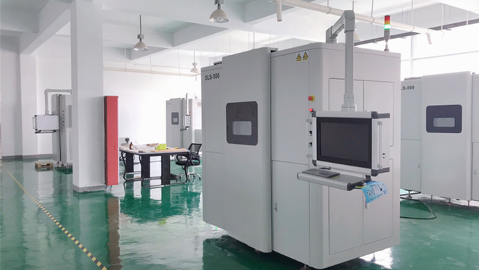 An SLS 3D printer at Me Next's production facility.