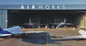 Featured image shows one of Air Works' aircraft hangars. Photo via Air Works.