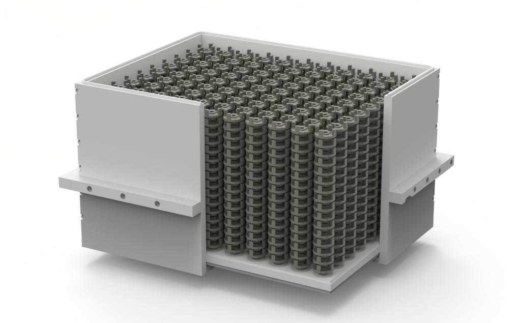 A build box full of 3D printed 4140 power steering joints. Image via Desktop Metal.