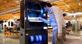 A BCN3D Epsilon W50 3D printer at Nissan's Barcelona factory. Photo via BCN3D.